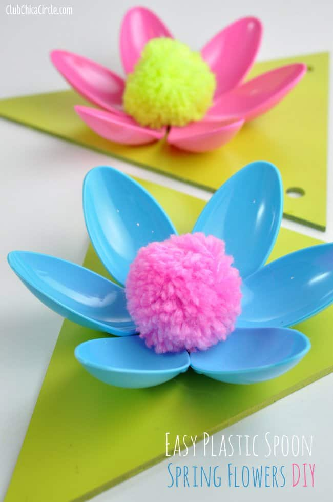 Spring-Flower-Plastic-Spoon-Home-Decor-Craft-Idea