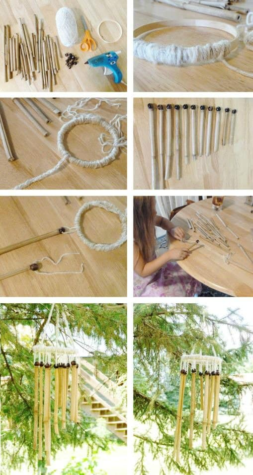 18 epic bamboo crafts for your home and decor homesthetics diy bamboo wind chimes solutioingenieria Choice Image