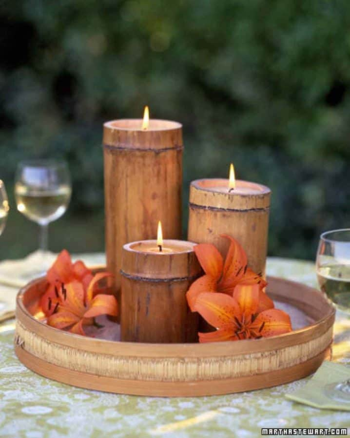 easy bamboo interior decoration. tvm2130 072407 bamboocandle xl 718x898 18 Epic Bamboo Crafts For Your Home and Decor  Homesthetics