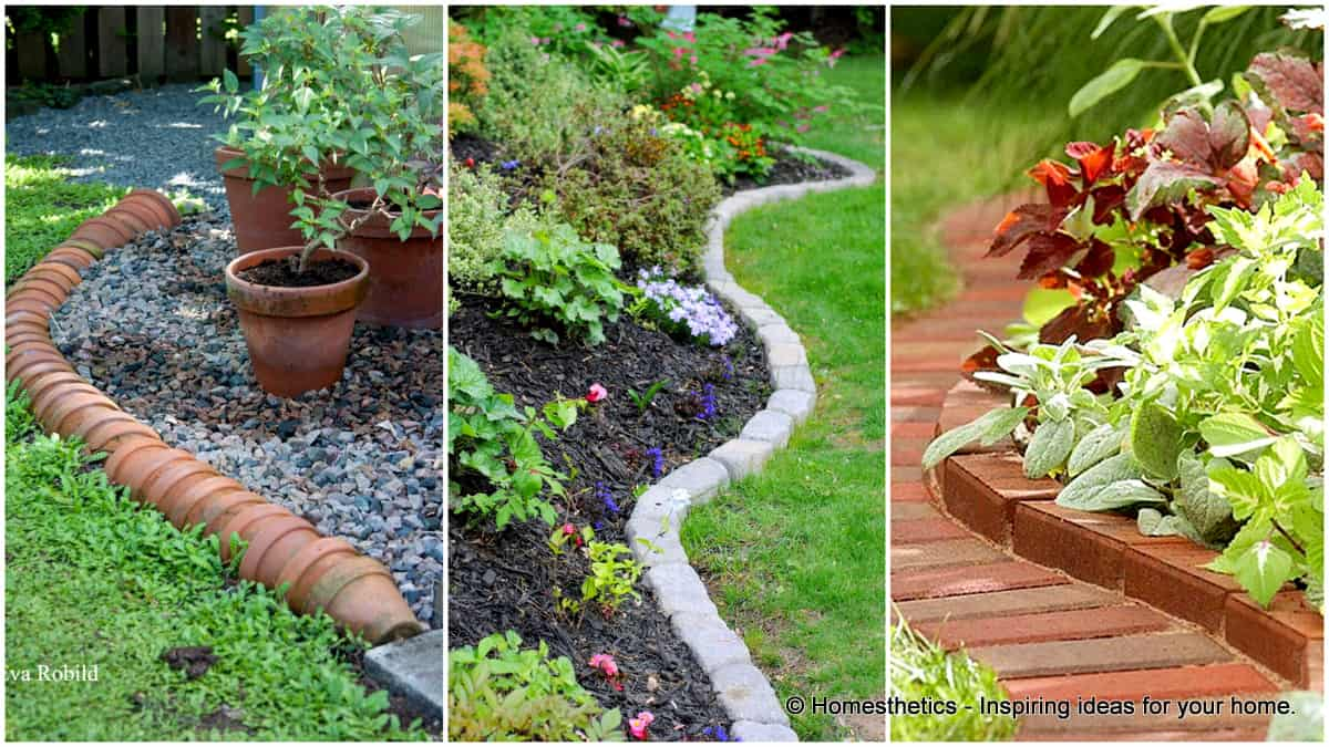 17 Simple and Cheap Garden Edging Ideas For Your Garden ... on Backyard Border Ideas id=46049