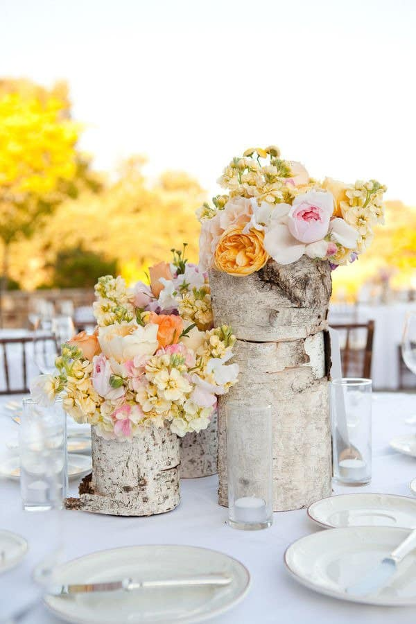 Add Glamour and Rustic Vibe With Tree Stump Vases-homesthetics (14)