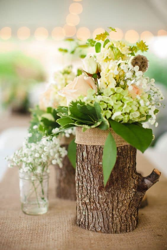 Add Glamour and Rustic Vibe With Tree Stump Vases-homesthetics (15)