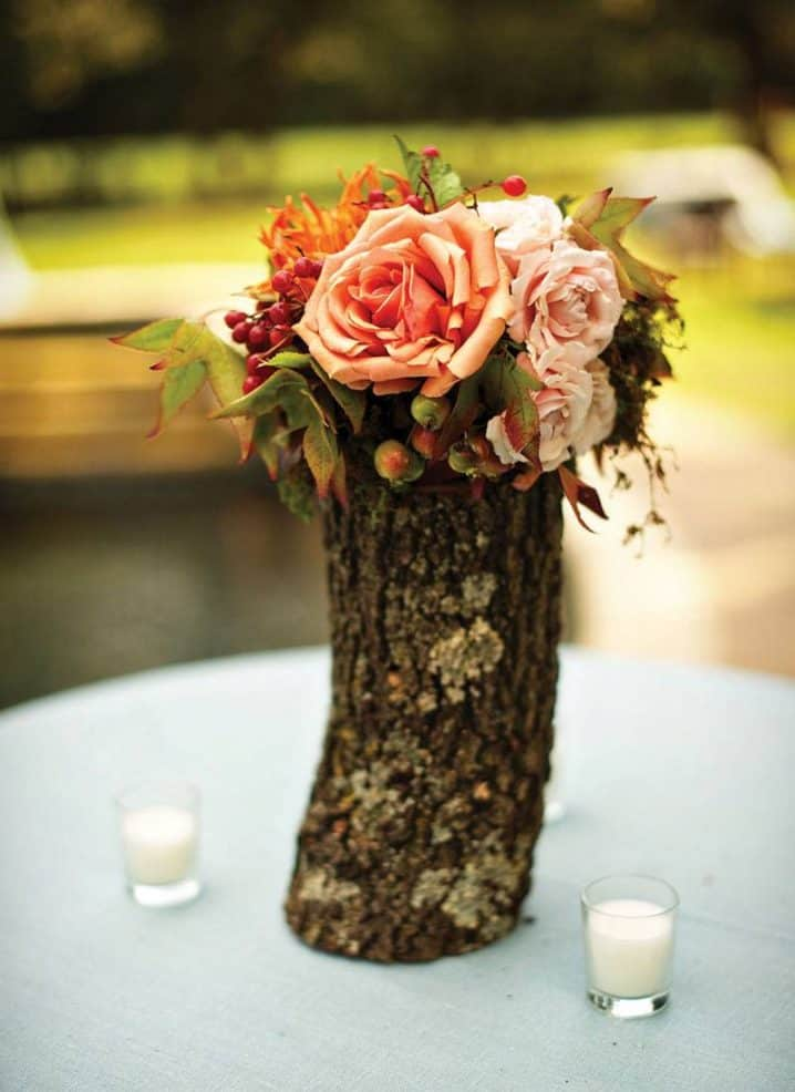Add Glamour and Rustic Vibe With Tree Stump Vases-homesthetics (16)