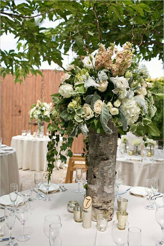 Add Glamour and Rustic Vibe With Tree Stump Vases-homesthetics (2)