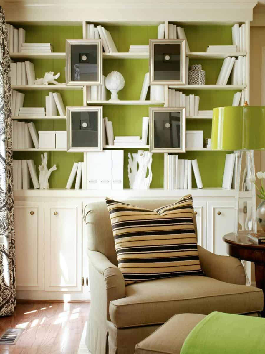 Color-Lime-Green-Office-Bookcase