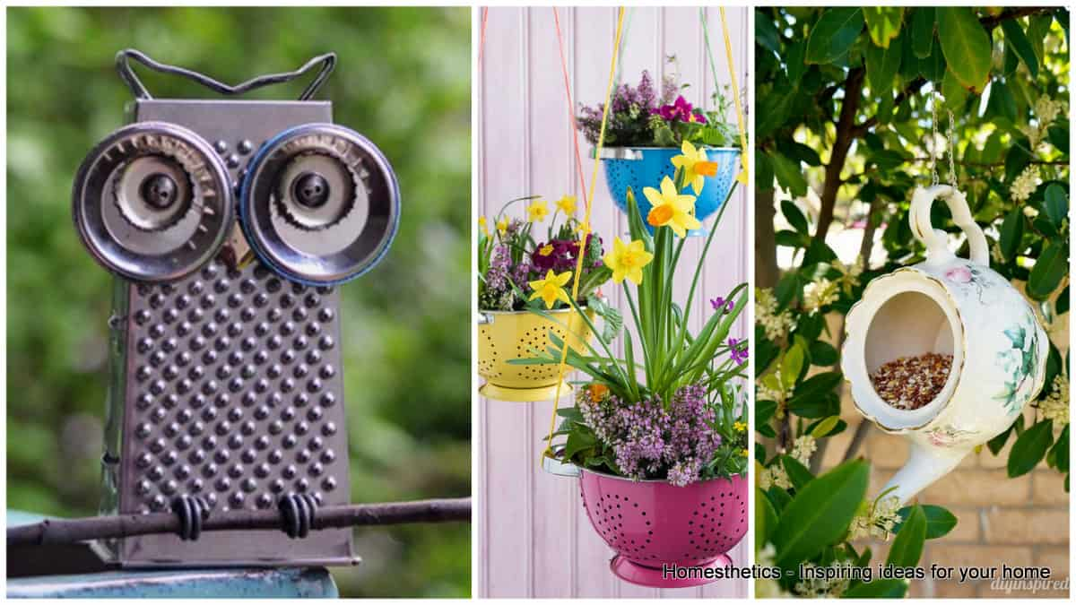 Brilliant Ways to Decorate Your Garden With Simple Kitchen Items ...