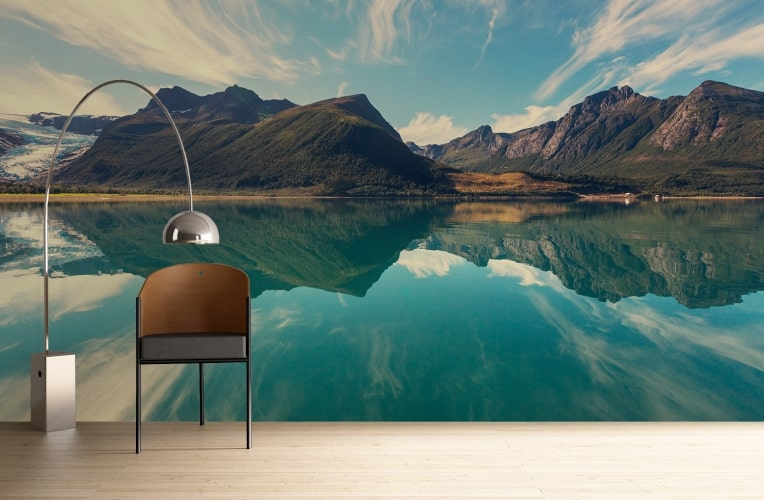 Norwegian-fjord WALLPAPER WALL ACCENT IDEAS