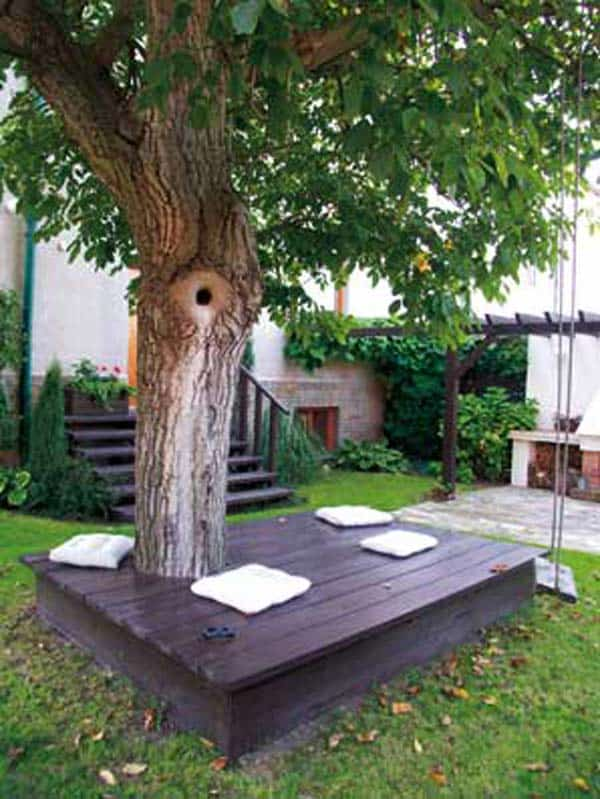 Simply Spectacular Cozy Seats Around a Tree homesthetics (7)