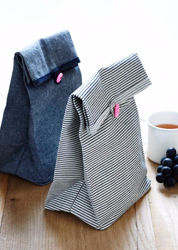 PREPARE AND WRAP LUNCH IN THE PERFECT FABRIC LUNCH BAG
