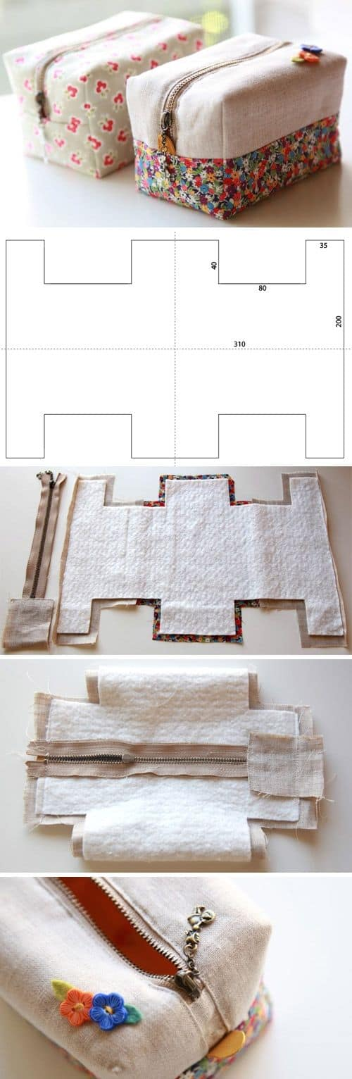 CREATE A FABRIC POUCH FOR PENCILS AND PENS