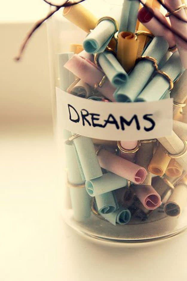 IT IS ALWAYS A WONDERFUL IDEA TO WRITE DOWN YOUR DREAMS AND MAKE SURE YOU FULFILL THEM