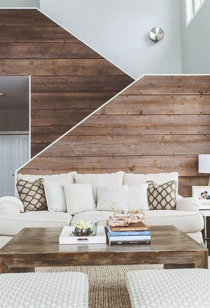 WOOD WALL ACCENT IDEA