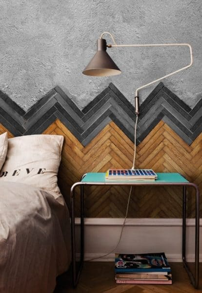 CHEVRON PATTERNS WALL ACCENT IDEAS