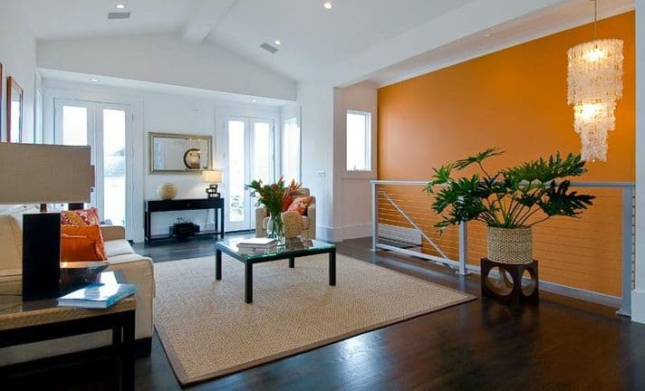 staircase-wall-orange-color