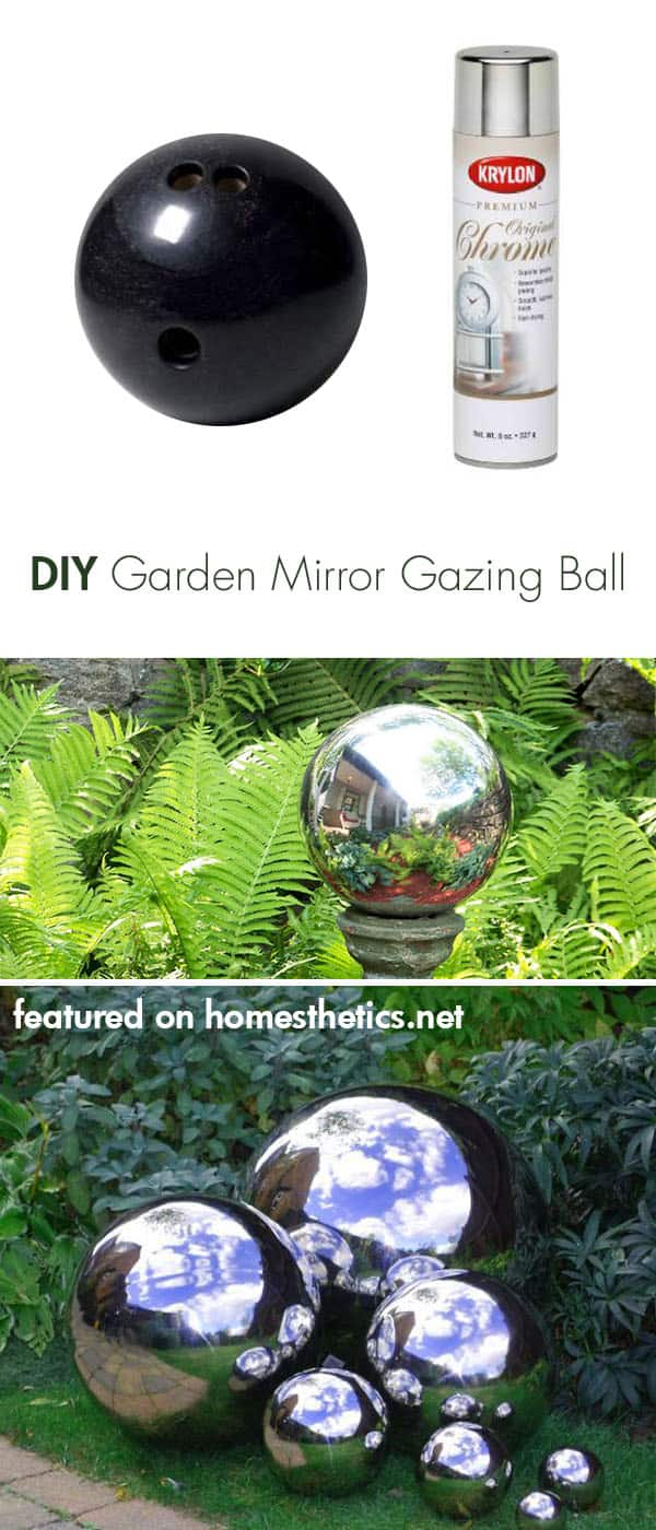 Spray Painting Ideas Part - 42: 12.-Make-your-own-mirrored-gazing-ball-with