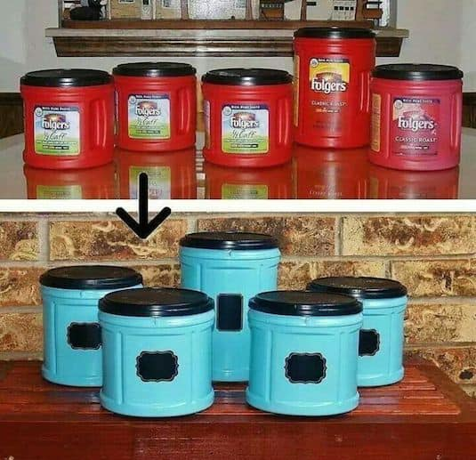 14.-Repurpose-canisters-with-spray-paint-29-Cool-Spray-Paint-Ideas-That-Will-Save-You-A-Ton-Of-Money