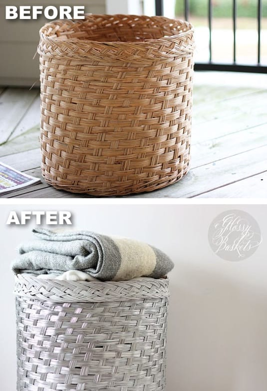 Superb Spray Paint Craft Ideas Part - 14: Spray-paint-baskets-for-a-modern-look