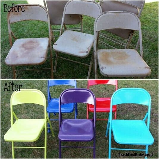 28.-Up-cycle-old-folding-chairs-with-spray-paint.-29-Cool-Spray-Paint-Ideas-That-Will-Save-You-A-Ton-Of-Money