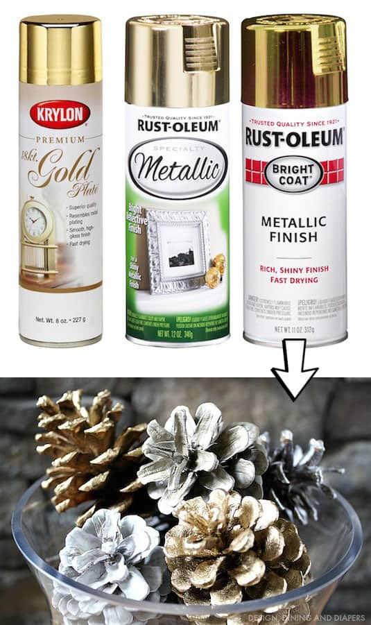 7.-Spray-paint-pinecones-for-pretty-Christmas-decor-29-Cool-Spray-Paint-Ideas-That-Will-Save-You-A-Ton-Of-Money
