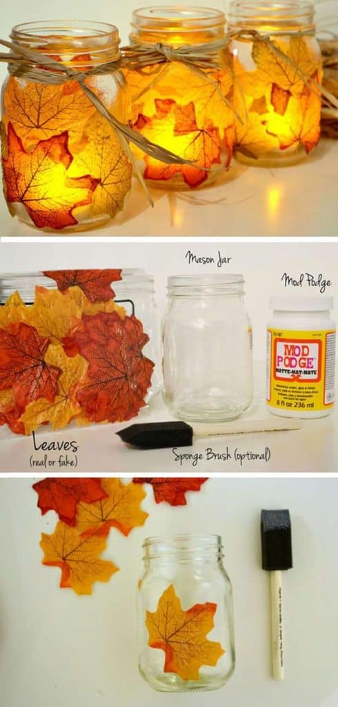 Diy Crafts For Fall Autumn Leaf Mason Jar Candle Holder Homesthetics Inspiring Ideas For Your Home