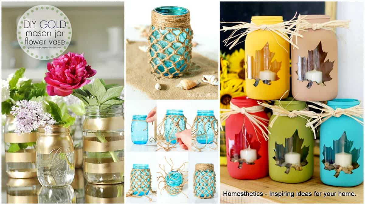 31 Extraordinary Adorable Diy Mason Jar Crafts To Pursue Homesthetics Inspiring Ideas For Your Home