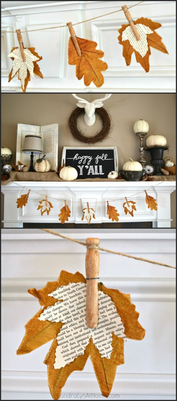 6. If Actual Leaves Donu0027t Satisfy Your Needs Create Faux Ones For A Banner.  How To Add Fall Decor ...
