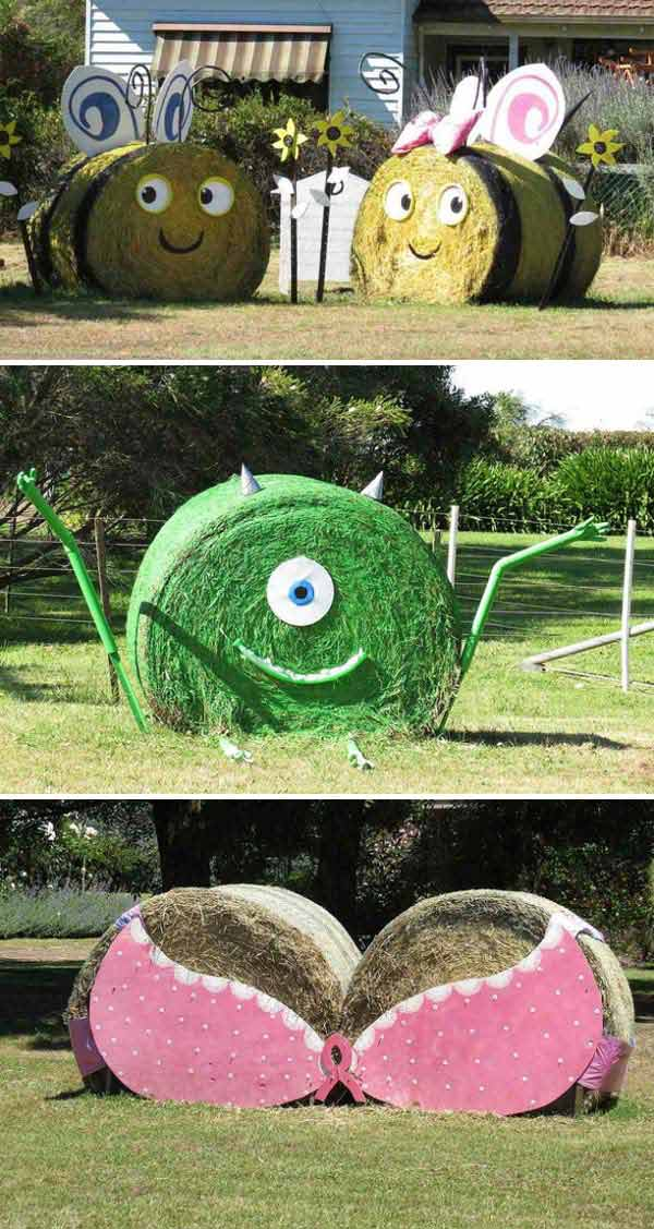 Insanely Ingenious Bales of Hay Projects For a Magical Autumn (2)