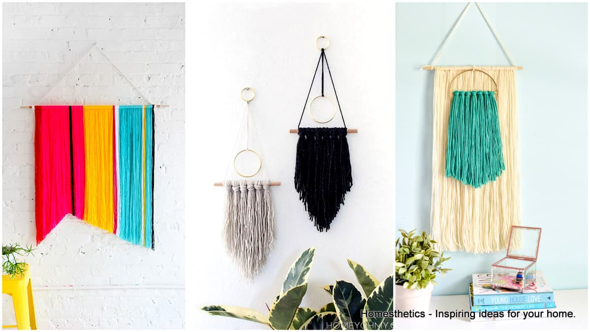 Splendid DIY Yarn Wall Hangings to Realize at Home