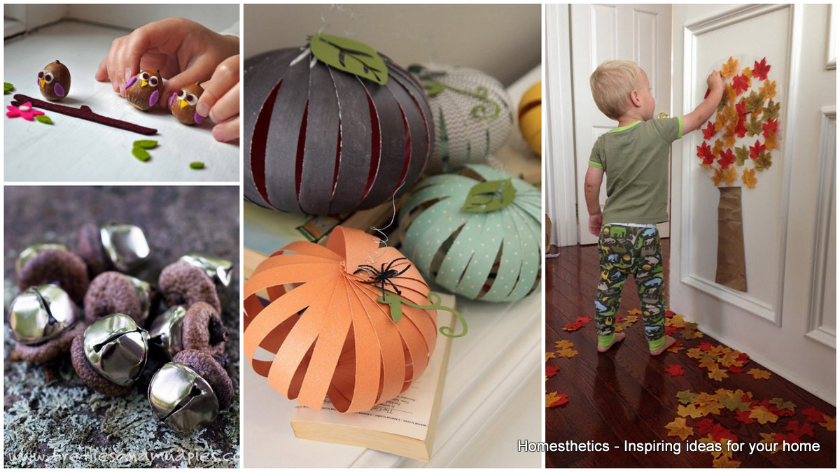 18 diy fall crafts suitable for kids homesthetics for Diy fall craft decorations