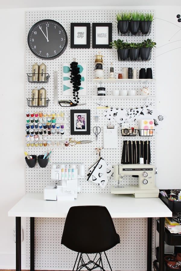 12. USE THE ORGANIZATION SKILLS OF A PEGBOARD