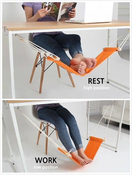 use a hammock desk foot rest