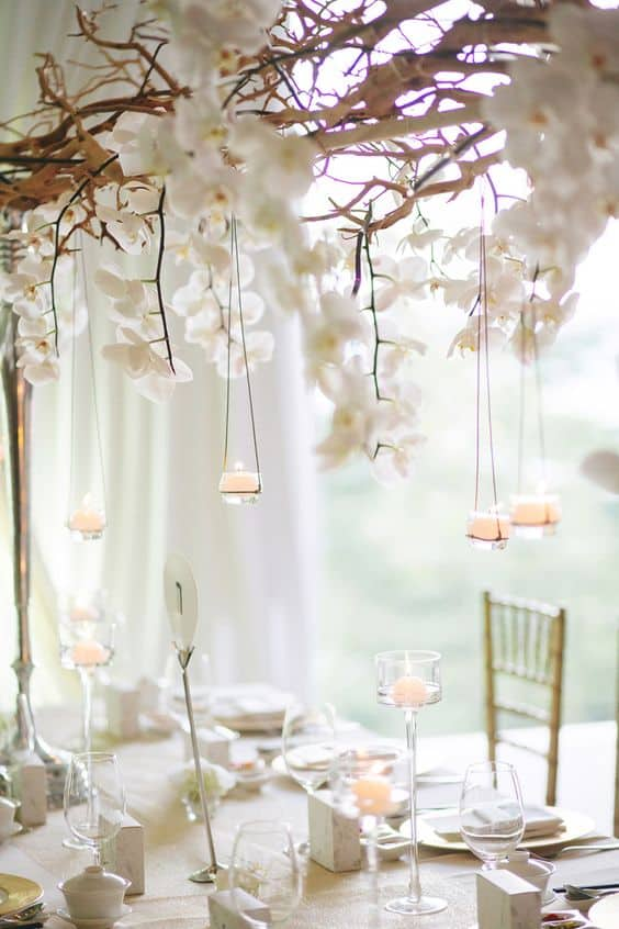 Beautiful decor for an all white party homesthetics for All white party decorations