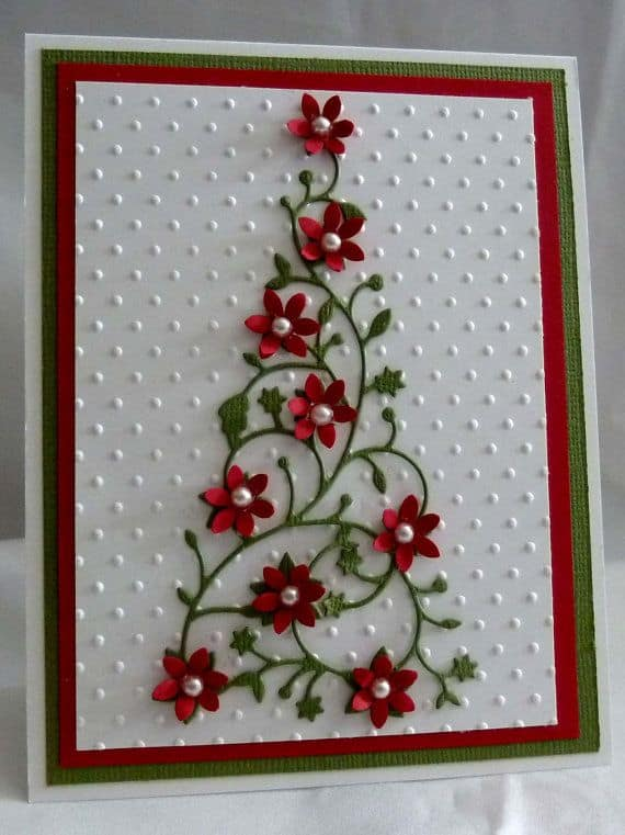 christmas cards with flowers