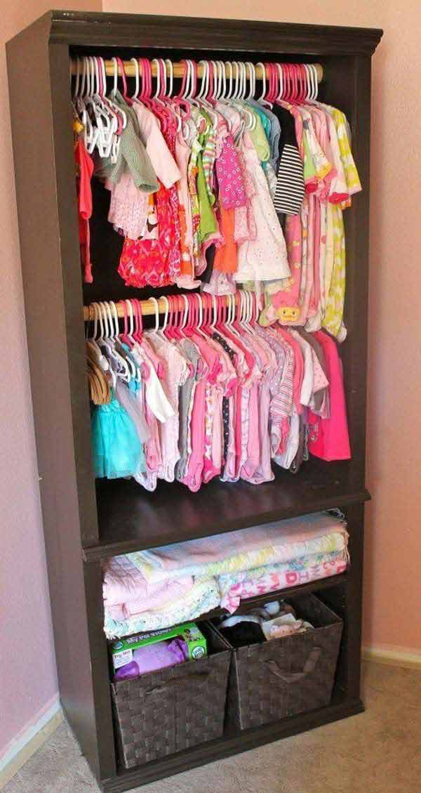 Clothes Storage Solved by 17 Ingenious Low-Cost DIY Closets Swiftly (10)
