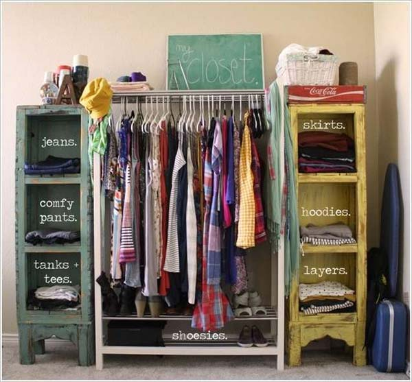 Clothes Storage Solved by 17 Ingenious Low-Cost DIY Closets Swiftly (13)