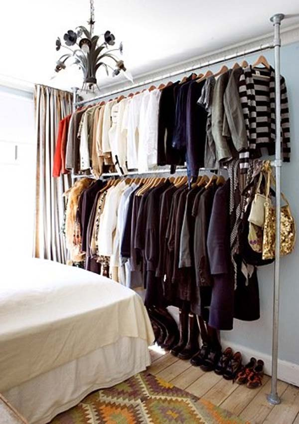 Clothes Storage Solved by 17 Ingenious Low-Cost DIY Closets Swiftly (3)