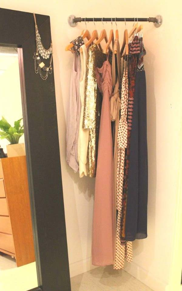 Clothes Storage Solved by 17 Ingenious Low-Cost DIY Closets Swiftly (6)