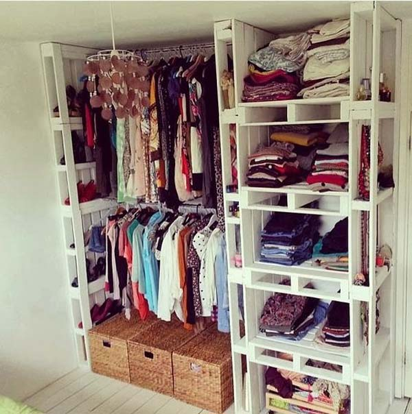 Clothes Storage Solved by 17 Ingenious Low-Cost DIY Closets Swiftly (7)