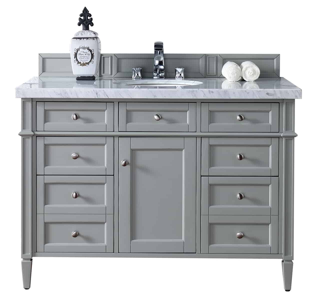 Contemporary-48-inch-Single-Bathroom-Vanity-Gray-Finish-No-Top