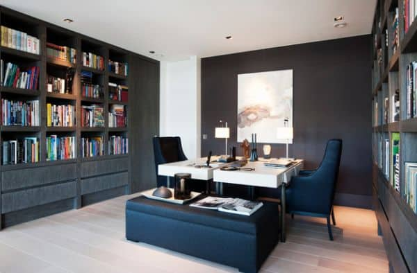 Gorgeous-modern-home-office-design-with-twin-workstations