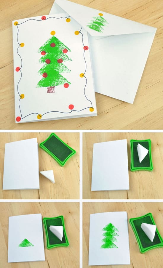 Christmas Card Making Ideas For Kids Part - 21: Make Your Own Creative Christmas Cards This Winter-homestheitcs.net (6)