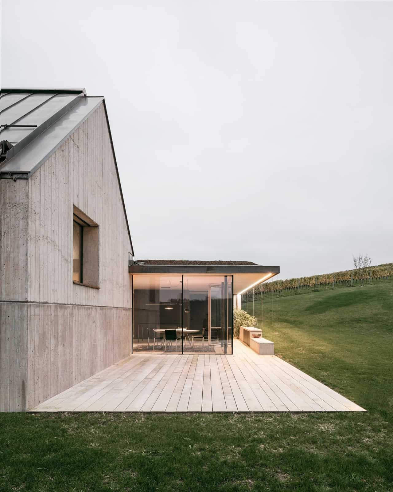 Modern Vineyard Home Materialized In The Heart of a Former Wine Press House (3)