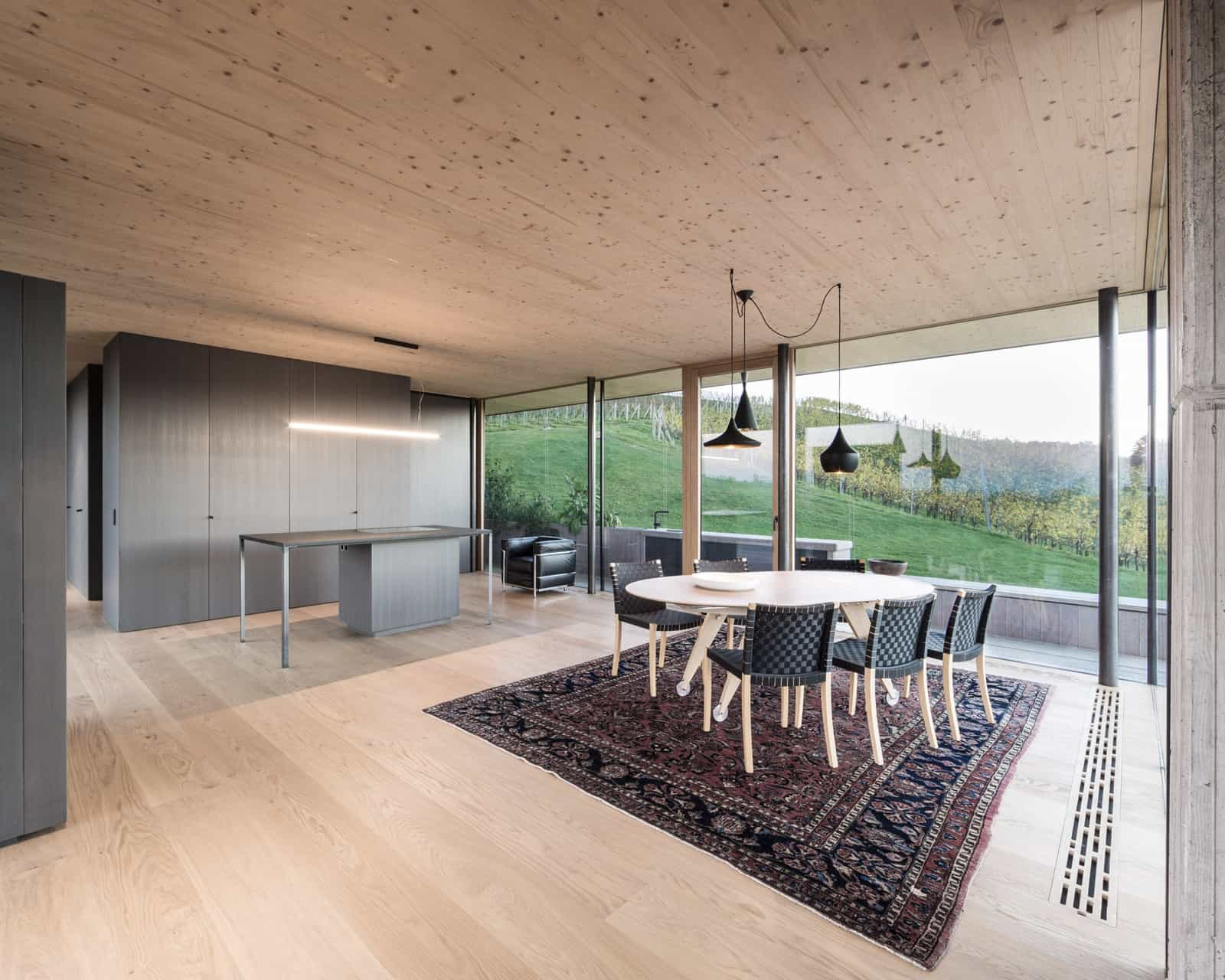 Modern Vineyard Home Materialized In The Heart of a Former Wine Press House (6)