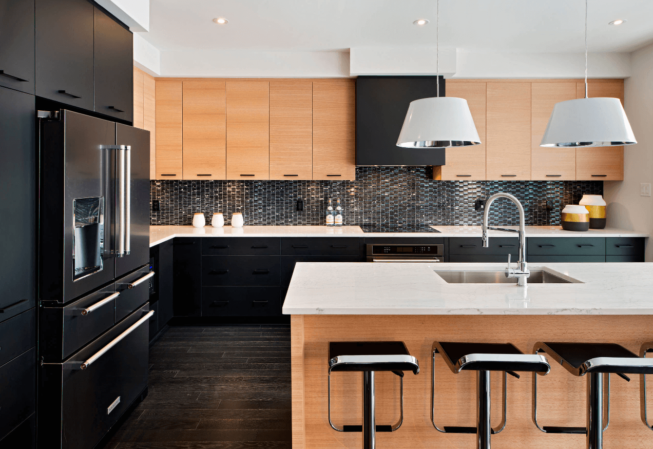 Black Kitchen Design Ideas ~ Step out of the box with bold black kitchen designs