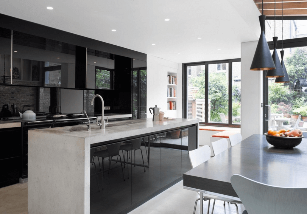 Simple Step Out Of The Box With Bold Black Kitchen Designs Homesthetics Net