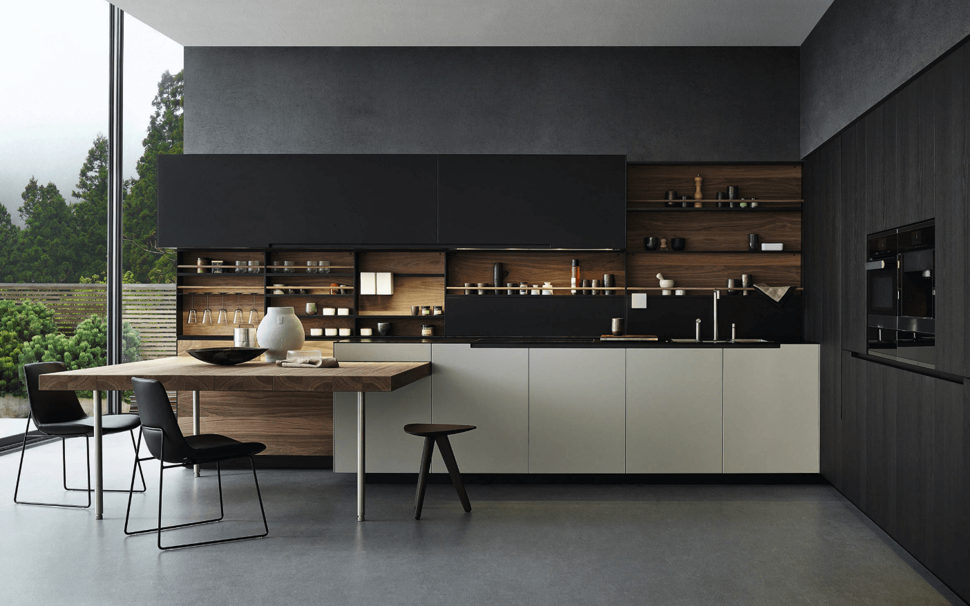 Step Out Of The Box With 31 Bold Black Kitchen Designs-homesthetics.net (4)