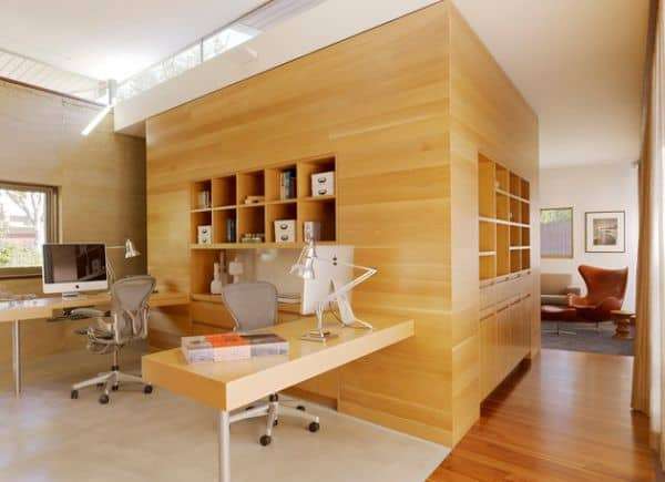 Twin-workstation-ome-office-design-for-those-who-are-easily-distracted