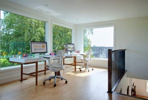 Two-identical-workstations-in-a-home-office-for-a-couple