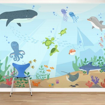 Elegant Under The Sea Mural