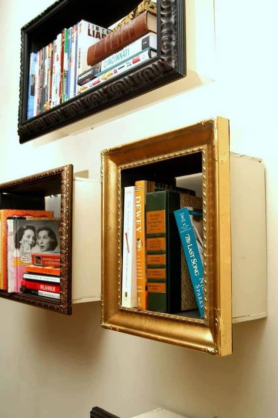 Extrude graphic frames into extraordinary bookshelves